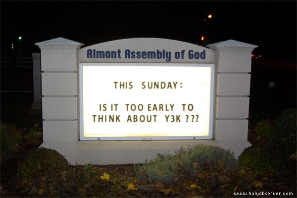 Is it too early to think about Y3K?