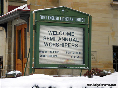 Welcome semi-annual worshipers